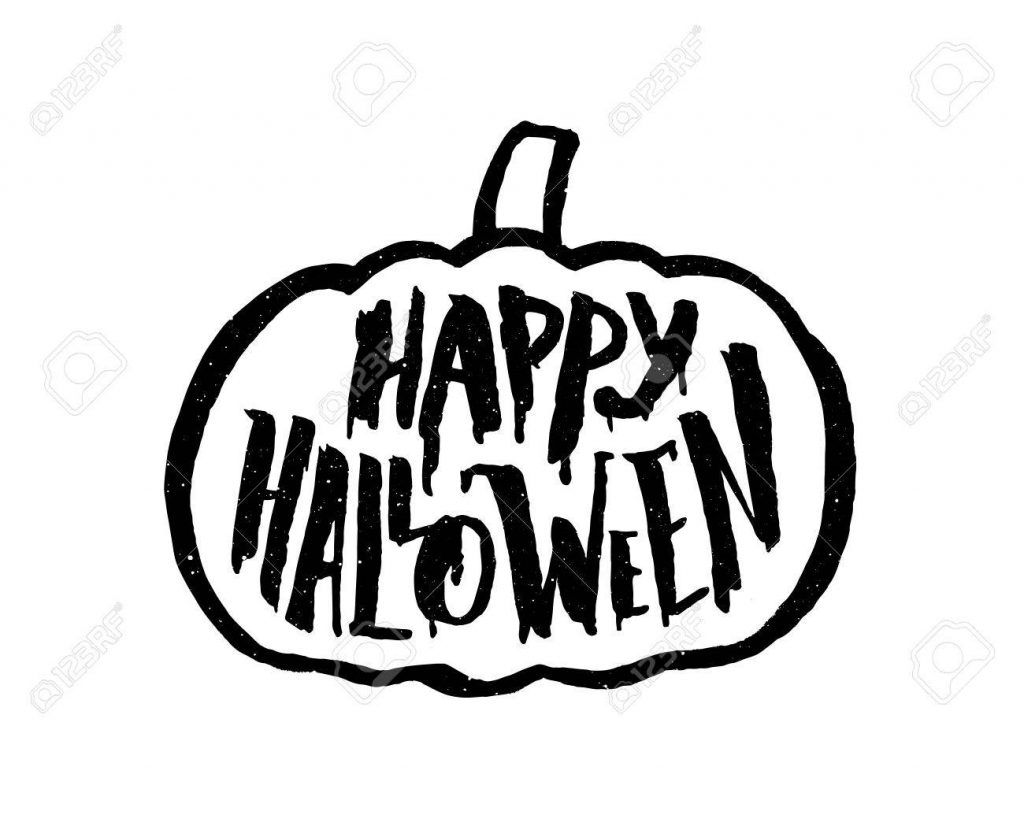 Happy Halloween vintage banner with typography